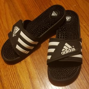 Adidas massage slides, size 9W/8M
